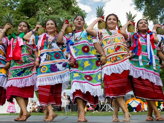 Dancers perform at a past La Guelaguetza Festival at Waryas Park, Poughkeepsie. This year's celebration of Mexican culture will be held Aug. 4 in the city by the riverfront.