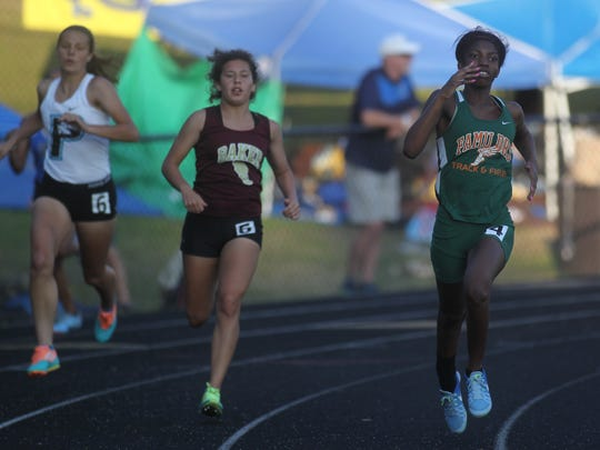 FAMU DRS sophomore Sanaa Crumiel runs the 400-meter