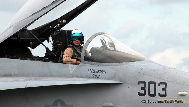 Local students will learn more about aviation firsthand from members of the Navy F-18 Super Hornet Demonstration Team along with members of the Air Force F-16 Viper Demo Team and Navy Leap Frogs.