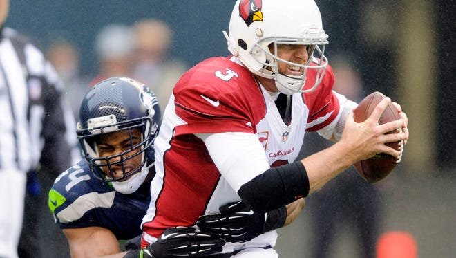 Despite a miserable statistical showing, Cardinals QB Carson Palmer won his last start in Seattle two years ago and LB Bobby Wagner and the Seahawks.