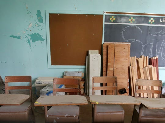 An old classroom in the former Saint Patrick's School in Verplanck Aug. 11, 2017. There are plans to convert the former  school into a combination of art gallery space,  studios and residences for artists.