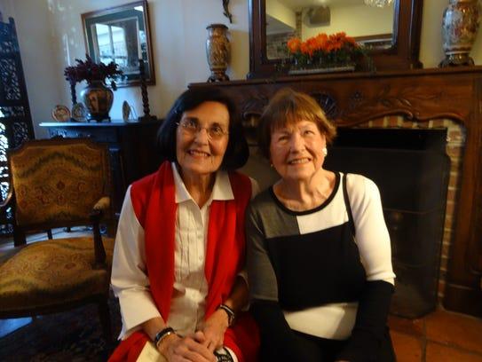 LaVerne Bodron and Jane Hayden at Potpourri Book Club