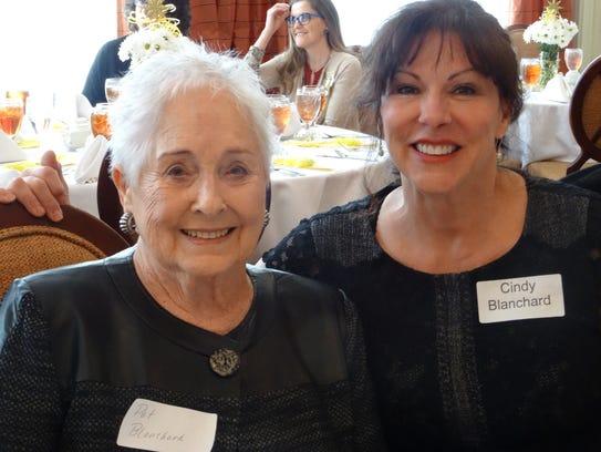 Pat Blanchard and Cindy Blanchard at P.E.O. Founders'