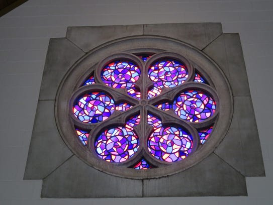 The Rose Window at Lakeshore Park's Marble Hall bears