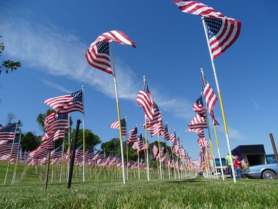 The Flags of Honor memorial will be on display at Zanesville