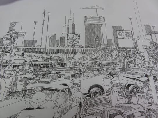 A portion '67 Fastback,' a piece Butch Cravens did