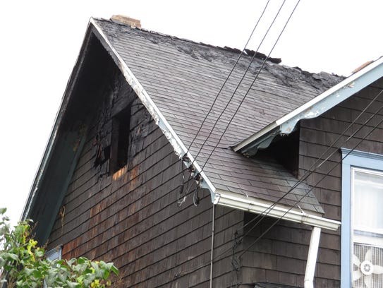 Firefighters extinguished a blaze at 368 Grand Ave.,