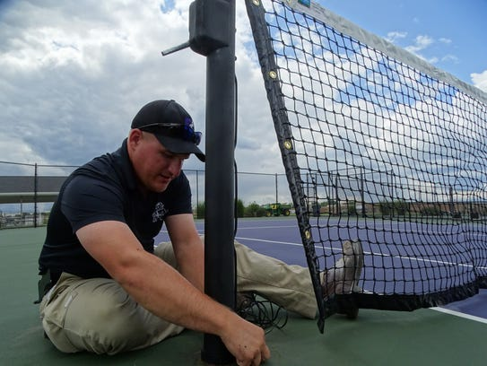Cory Hull, the head groundskeeper for Fremont City