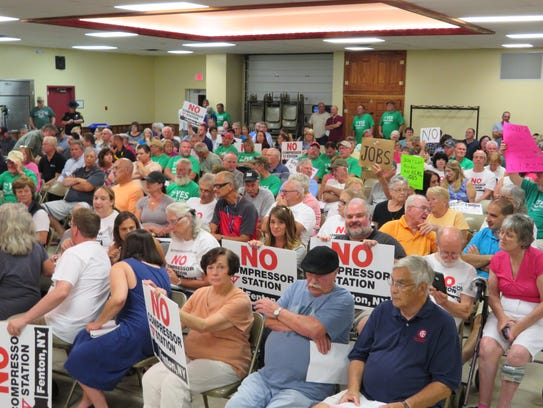 A crowd of 250 people attended the Town of Fenton Planning