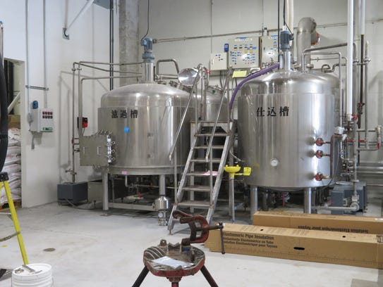 Tanks inside Liquid State Brewing Co. at 620 W. Green