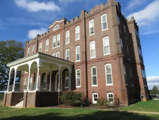 Historic Administration Building sits on hilltop of