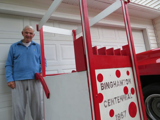 A snow cone cart Bob Cavanaugh built was part of Binghamton's