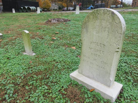 This is among a small number of marked graves for former