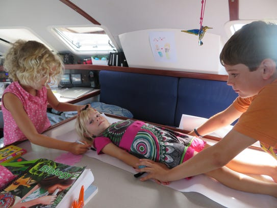 The Grosjean children continued their education overseas