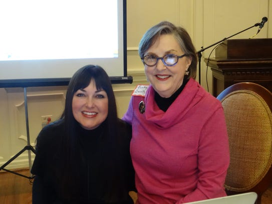MGC president Therese Nagem with guest speaker, Becky