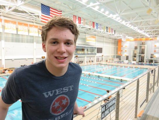 West High School freestyle sprinter, Coleman Kredich.