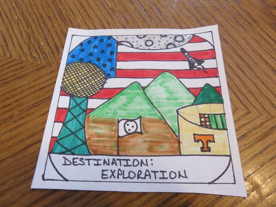 The patch Luke Akard designed last year, showing the