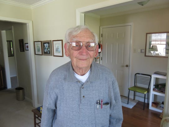 Jim Boehms at his home on April 4, 2018.