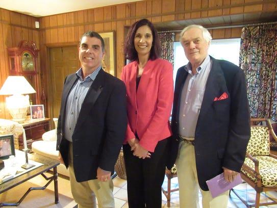 Glenn Tremml, left, Tracy Sorzano and Bob McCabe at