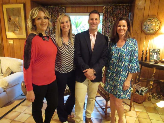 Crystal Tumolo, left, Rachel Reed, Rob Toperzer and