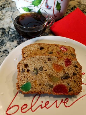 Instead of dried or candied fruit, this fruitcake has gumdrops.