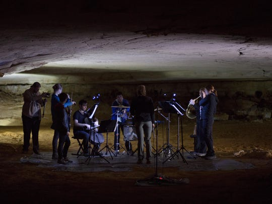 """Music in the American Wild made field recordings in Mammoth Cave's """"Marion Avenue,"""" located 30 stories underground."""