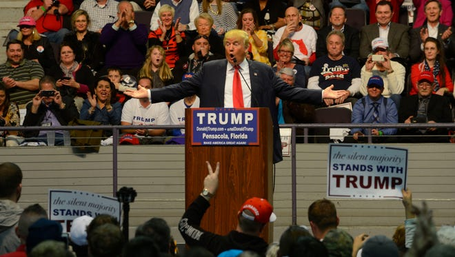 Republican presidential nominee Donald Trump will return to the Pensacola Bay Center at 7 p.m. Sept. 9. Trump previously campaigned in January at the Bay Center in front of an estimated crowd of 12,500.