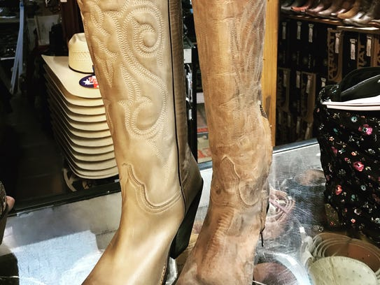 Lucchese branded boots are popular with ladies