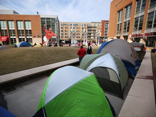 In years past, Reds fans have pitched tents on Crosley Terrace waiting for Opening Day tickets to go on sale.