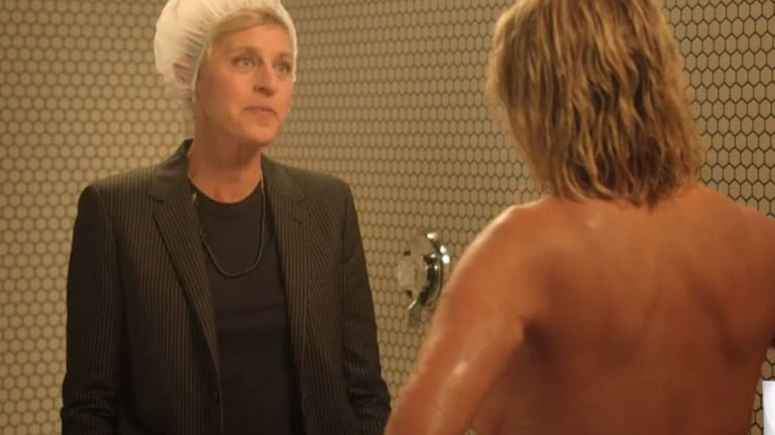 Chelsea handler takes one last shower in her star studded finale