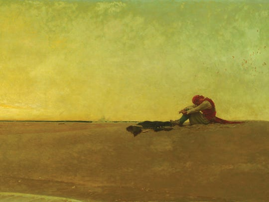 Howard Pyle's Marooned (1909) is not among the works to be sold by the Delaware Art Museum.
