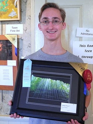"Adrian Haluska of Pine City won a teen photo people's choice award for ""Falling Waters"" at this fall's Pennsylvania Apple & Cheese Festival in Canton."