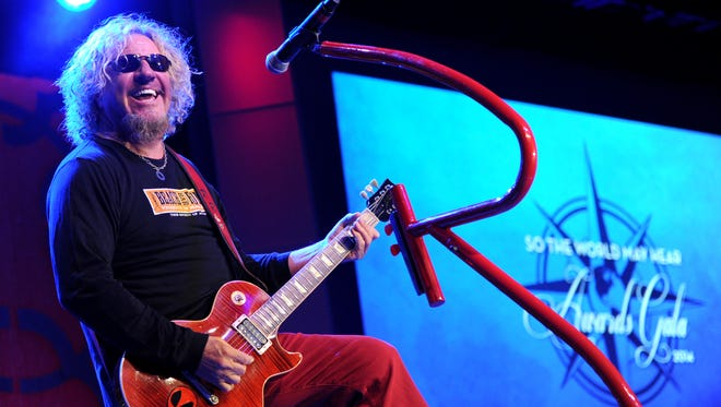 """Musician Sammy Hagar performs at the Starkey Hearing Foundation's """"So the World May Hear"""" Awards Gala on Sunday, July 20, 2014 in St. Paul, Minn. The foundation gives away more than 100,000 hearing aids in the U.S. and around the world annually."""