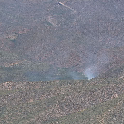 Valley Fire burning in the  Tonto National Forest