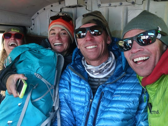 American members of a ski-mountaineering team that