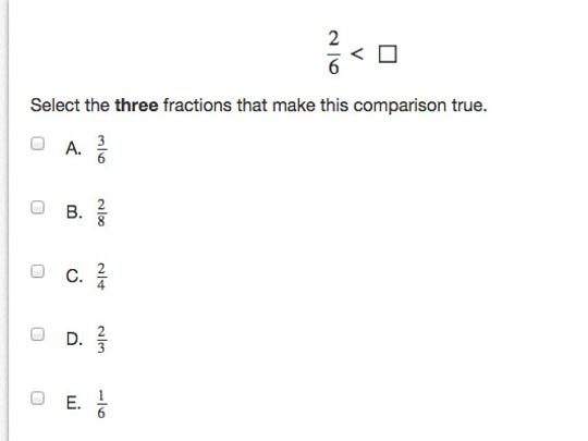 Sample question from the Grade 3 PARCC math test. Tweet your answer to @CarlyQRomalino