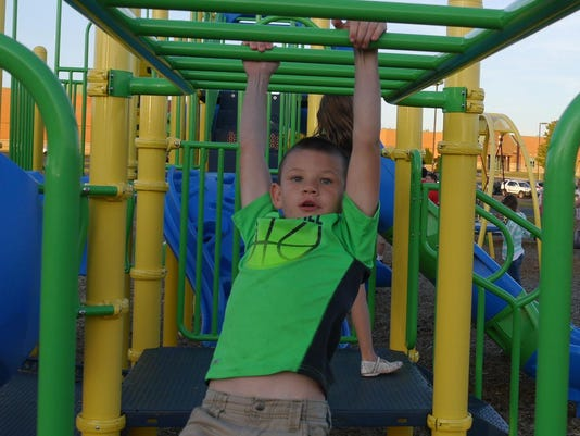 Handicap accessible playground