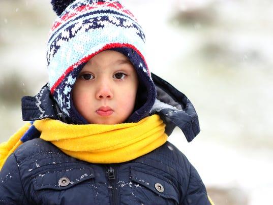 Winter Little boys Portrait Outdoor