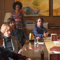 Bobby Cannavale (left) as Richie Finestra and Ato Essandoh (as Lester Grimes) in a flashback scene from HBO's 'Vinyl.'