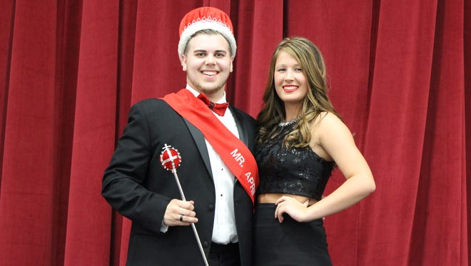 Tommy Conroy was named Mr. Delsea 2016. He is pictured with his escort, senior Sydney Casey.