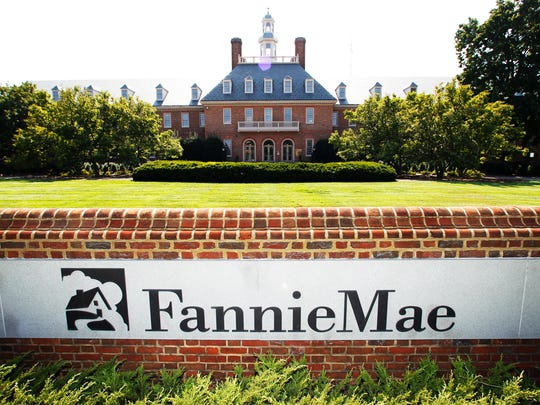 This Monday, Aug. 8, 2011, file photo shows the Fannie Mae headquarters in Washington.