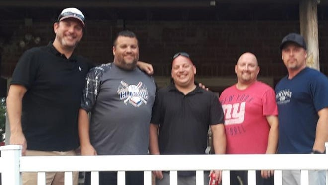 Cerno's won the regular season title. From left, John Cernovich, Josh Newman, Steve Welgat, Brian Crabtree and Chad Lewis. Not pictured, Ben Nelson, Jeremy Stout, Andrew Welgat and Jeremiah Buegman.
