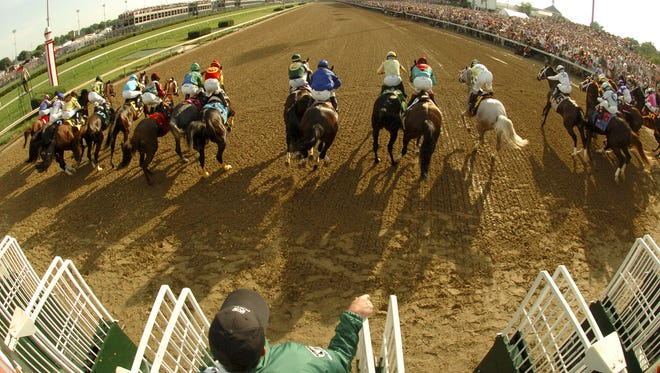 The start of The Kentucky Derby. May 5, 2012