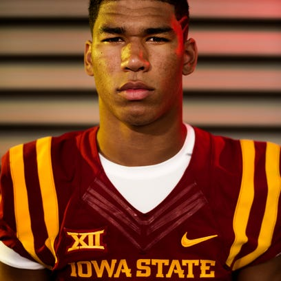 Wide Receiver Allen Lazard poses for a portrait during