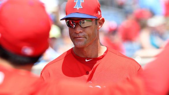 USP MLB: SPRING TRAINING-BALTIMORE ORIOLES AT PHIL S BBO PHI BAL USA FL