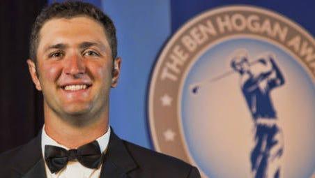 Arizona State golfer Jon Rahm is the first two-time winner of the Ben Hogan Award.
