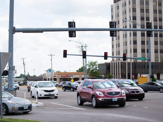 """The intersection of Glenstone Avenue and Sunshine Street — used by 25 million vehicles per year — is shown in a recent News-Leader photo. MoDOT announced that Missouri will crack down on drugged driving on April 19 and 20, 2019, in an effort to head off marijuana-impaired drivers celebrating the annual """"4/20"""" cannabis holiday."""