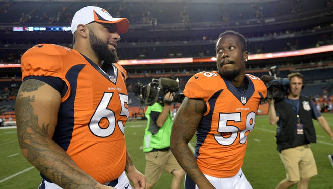 Broncos linebacker Von Miller is suspended for the team's first six games.