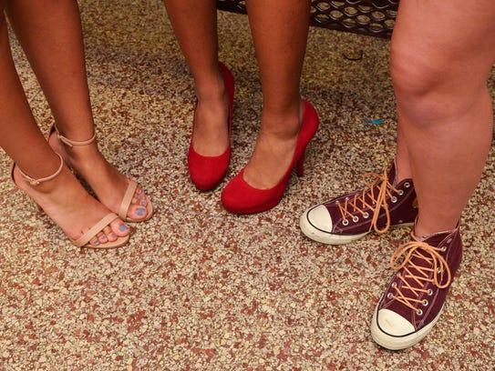 Fancy footwear at the homecoming dance belongs to Terri