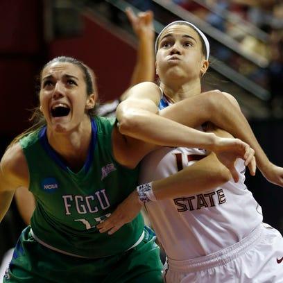 FSU's Brittany Brown battles Florida Gulf Coast's Stephanie